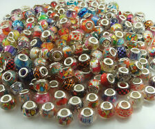 HOT 50pcs big hole charm Beads fit European Bracelet Chain Wholesale beads #3