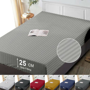 Hotel Quality 25 CM Deep Fitted Bottom Bed Sheet Double King Size Mattress Cover