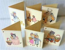 Vintage KITTY CUCUMBER EASTER GIFT TAG NOTE CARDS (Pkg 12) Mint/Sealed MERRIMAC