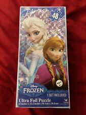 "Disney Frozen ELSA AND ANNA Ultra Foil Jigsaw Puzzle 48 pieces 15"" x 11.2"" New"