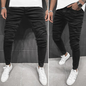 Jeanshose Röhrenjeans Straight Cut Slim Fit Hose Clubwear Herren OZONEE O/B5861