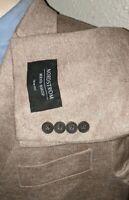 46R TRIM Fit Unconstructed SOFT LINEN Knit Stretch Patch Pkts Coat Jacket Blazer