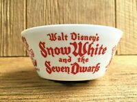 1938 Walt Disney's Snow White & The Seven Dwarfs Fire King Vitrock Bowl Vintage