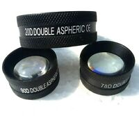 20D, 90D and 78D Set of Three Free Shipping Non Contact Aspheric Slit Lamp Lens