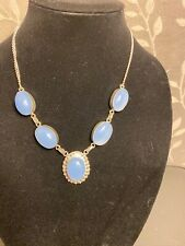 Beautiful Sky Blue Chalcedony Necklace 20""