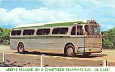Delaware Air Conditioned Parlor Coach Advertising Bus Postcard