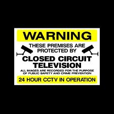 CCTV Sign, Sticker - All Sizes & Materials - Security, Camera, Warning (MISC48)