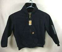 NEW Men's Carhartt Jacket Coat Sandstone Active Hooded Navy Blue Size 3XL REG