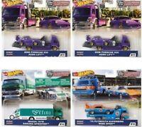 2020 Hot Wheels Car Culture Team Transport Case G Set of 4, 1/64 Cars FLF56-956G