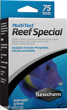 Seachem MultiTest Reef Special Test Kit Phosphate Silicate Iodide 75 Tests