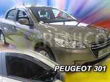 PEUGEOT 301 4-portes 2013-présent Deflecteurs de vent 2-pièces HEKO Bulles