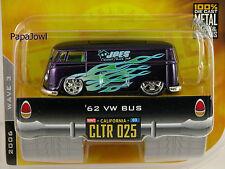 Jada Toys Dub City Old Skool 1962 VW Bus 62 Volkswagen Van Wave 3 #CLTR 025 1:64