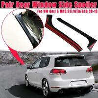 Rear Window Side Spoiler Wing Canards Splitter For VW Golf 6 GTI/GTR/GTD 08-2013