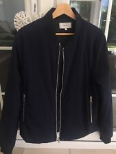 Men's Reiss 'Cherry' Bomber Jacket - Largw - Blue - Perfect Condition - RRP £170