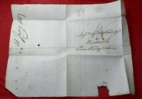 Great Britain London Holborn to Cambridgeshire 1817 Stampless cover & Letter