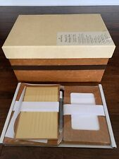 Hallmark Photo CD Album Storage Box Brown Dividers, Personalization, Labels NICE