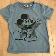 Junk Food Mickey Mouse Boys T-shirt Size Small Blue