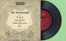 THE STARGAZERS / Vaya Con Dios / DECCA BEP 6.127 Press Spain 195? EP VG+