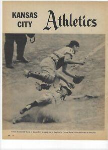 1960 Kansas City Athletics Major League Baseball Magazine 2 Full Pages Print Ad
