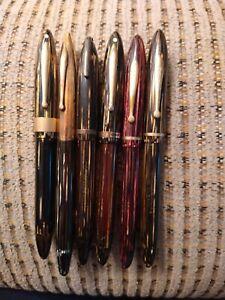 Lot Of 6 Sheaffer Vacuumatic Filling Fountain Pens For Repair.