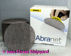 50 BOX Mirka Abranet 320 Grit 6 inch Mesh Disk Abrasive Grip Sanding Sand Paper