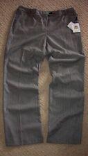 Women's Black & White Herringbone Pants Calvin Klein Modern Fit 14 W/stretch