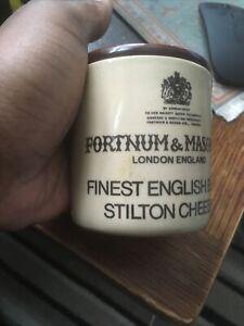 Deney Fortnum And Mason Finest English Blue Stilton Cheese Jar (Empty)