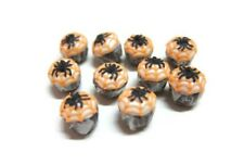 10 Miniatures Halloween Cupcakes with Spider Dollhouse Miniatures Food Bakery