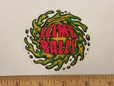VTG 90's REISSUE SANTA CRUZ SLIME BALLS SPEED WHEELS NOS SKATEBOARD STICKER sma