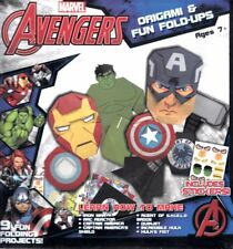 Marvel Avengers Origami & Fun Fold Ups Ages 7+ New