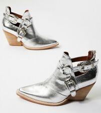 NEW In Box 6 Jeffrey Campbell X Free People Icon Silver Western Boot Bootie $178