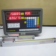 2 Axis Digital Readout Display Meter For Milling Lathe Machine Linear Scale PGS