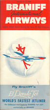 Braniff International Airways system timetable 7/5/60 [6021] Buy 4+ save 25%
