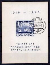CZECHOSLOVAKIA 1948 - SOUVENIR SHEET SC# 368 USED