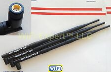 3 9dBi RP-SMA WiFi Antennas Asus RT-N16 RT-N66U RT-AC66U AC1750 D-Link DGL-4500