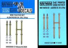 Kits World Decals 1/32 3D SEAT BELT SET for World War I Albatros Aircraft