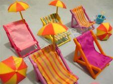 Littlest Pet Shop Random Lot 5 Summer Beach Accessories Chairs Umbrella Gift Bag