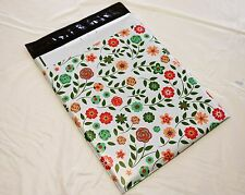 """25 10x13 Shabby Chic Flower Poly Mailer Custom Shipping Boutique Bags 10"""" x 13"""""""