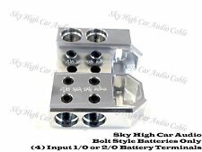 Pair of Sky High Car Audio (4) 1/0 or 2/0 Gauge BATTERY TERMINALS BOLT USE ONLY