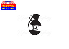 Grenade Decal Sticker For Honda i-vtec jdm turbo lowered si civic del sol accord