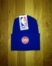 vintage detroit pistons beanie adult OSFA deadstock NWT 90s made in USA
