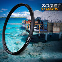 Ultra Slim CPL Circular Polarizing Camera Lens Filter 52/55/58/62/67/72/77/82mm