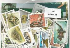 """Lot 100 timbres thematqieur """" Reptiles """""""