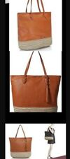 Nwt Rebecca Minkoff XL  Leather Tan Mansfield Tote Shoulder Bag W/ FOB $556