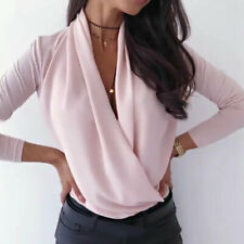 Fashion Elegant V Neck Women Blouse Shirts White OL Office Ladies Blouses Tops