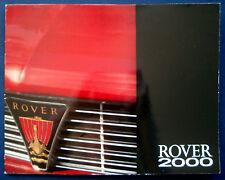 Prospekt brochure Rover 2000 (D, 1968)