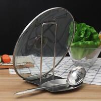 Stainless Steel Pan Stand Pot Cover Rack Lid Spoon Holder Kitchen Tool shan