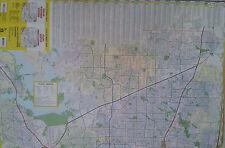 Dallas North Suburbs Plano Denton Lewisville McKinney Laminated Wall Map (G)