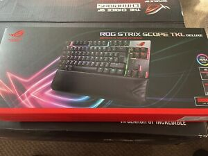 ASUS ROG Strix Scope TKL Deluxe RGB Wired Mechanical Gaming Keyboard with Cherry