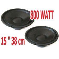 "COPPIA WOOFER PROFESSIONALI 800w 15"" 38 CM 8 OHM x casse amplificate passive"